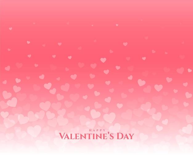 幸せなバレンタインデーフローティングハート挨拶デザイン