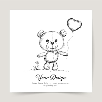 해피 발렌타인 데이, 인사말 카드 디자인,