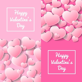 Happy valentines day greeting card templates