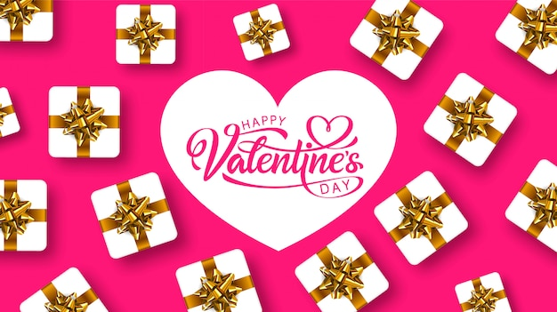 Happy valentines day, greeting card