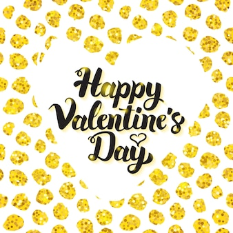 Счастливый день святого валентина рисованной карты. векторная иллюстрация любовной открытки с каллиграфией.
