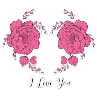 С Днем Святого Валентина Сердце Рамка