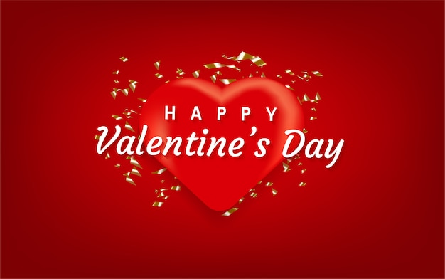 Happy valentines day heart shape background