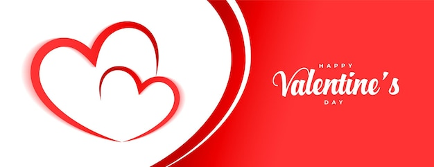 Happy valentines day hearts banner design