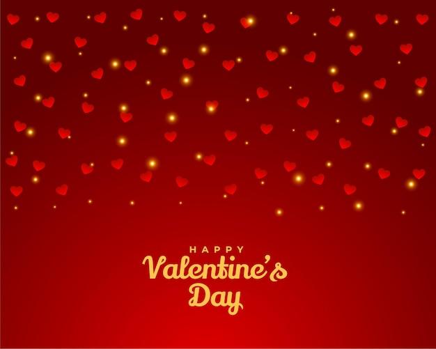 幸せなバレンタインデーの心のグリーティングカードのデザインの背景
