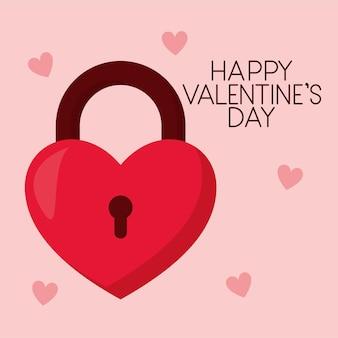С днем святого валентина надписи и один замок в форме сердца