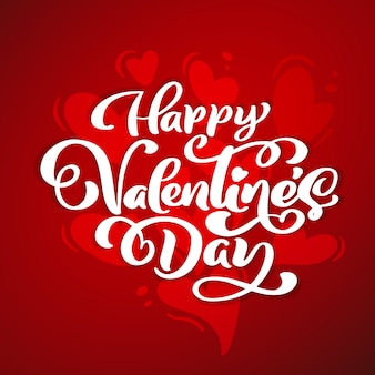 Happy valentines day lettering for greeting cards and poster.