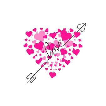 С днем святого валентина надписи на белом фоне векторные иллюстрации буквы рисованной c ...