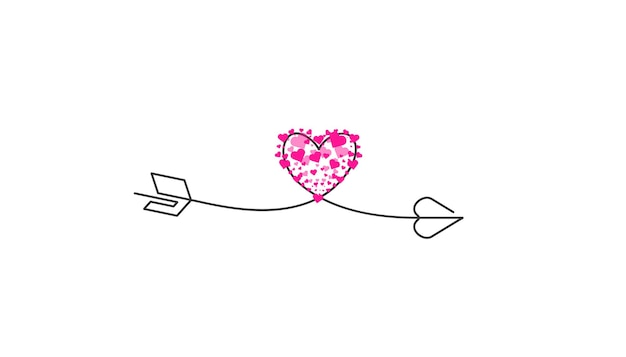 Happy valentines day lettering isolated on white background vector illustration letters hand drawn c...