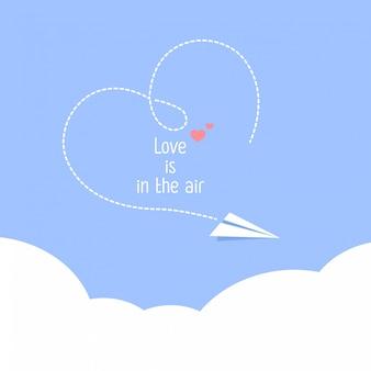 幸せなバレンタインデー愛は空気中です