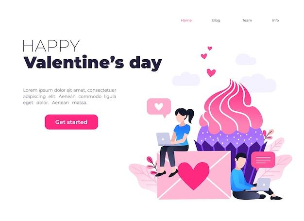 幸せなバレンタインデー、ラブレターのコンセプト