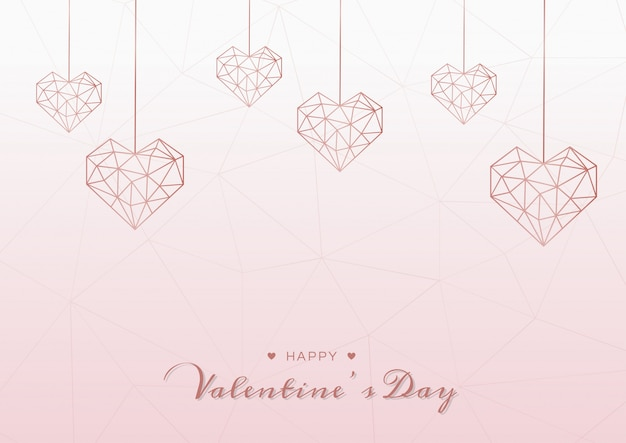 Happy valentines day pink background