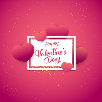 Happy valentines day poster with gifts, love decorative.