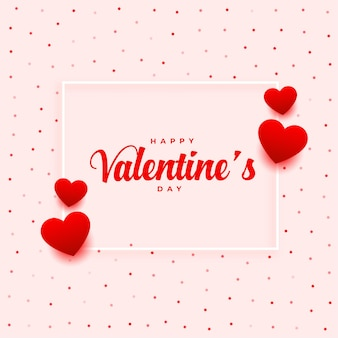 Happy valentines day romantic greeting design