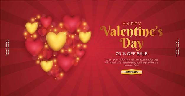 Happy valentines day sale background design