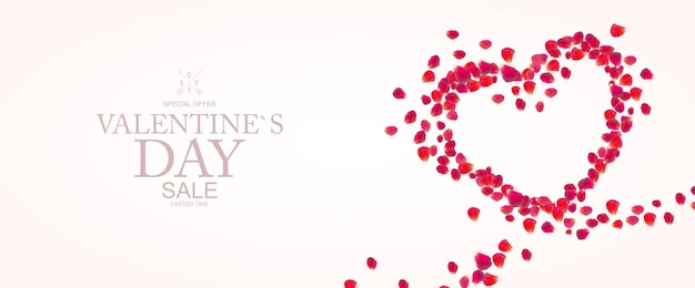 Happy valentines day sale background, poster, card, invitation.