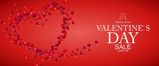 Happy valentines day sale background