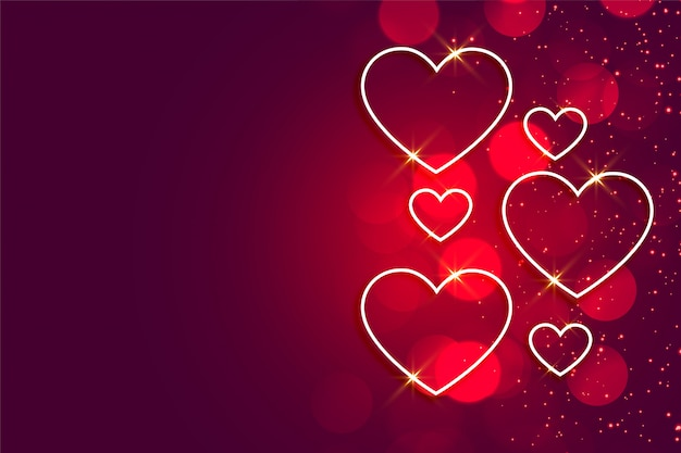 Happy valentines day shiny hearts background with text space