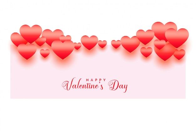 Happy valentines day shiny hearts background