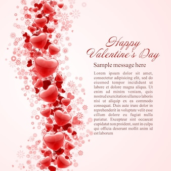 С днем святого валентина фон блестящие сердца