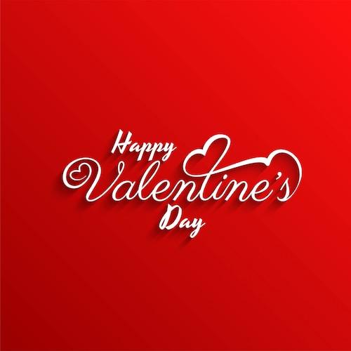 Happy Valentine's day stylish red background