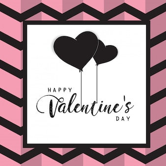 Happy valentines day text box and weeding design elements
