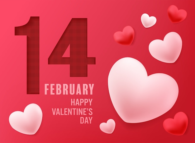 Happy valentines day vector design