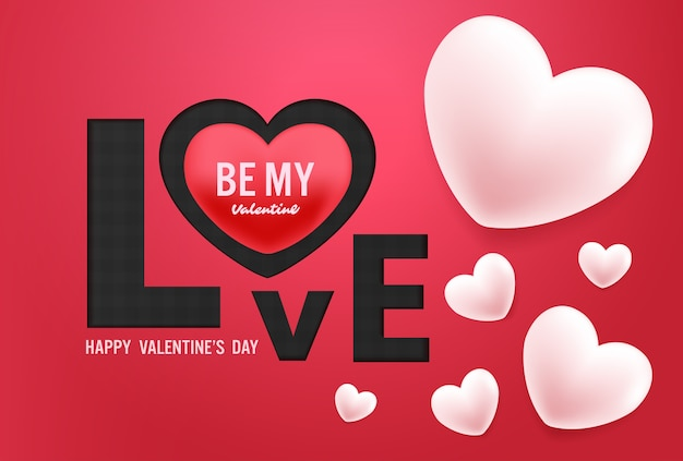 Happy valentines day vector design