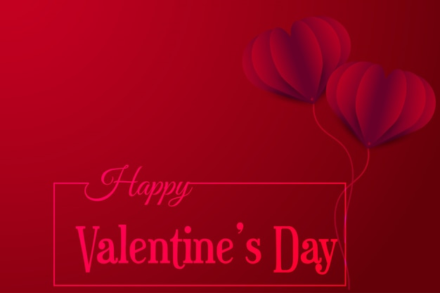 Happy valentines day vector greetings card