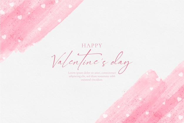 Happy valentines day watercolor background