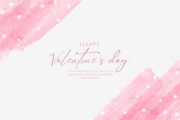 幸せなバレンタインデーの水彩画の背景