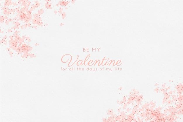 해피 발렌타인 수채화 배경