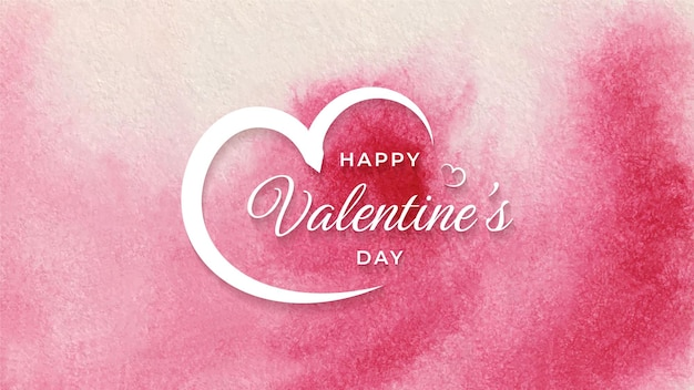 Happy valentines day watercolor modern elegant background design