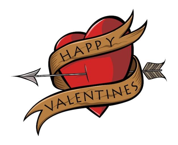 Happy valentines heart sticker