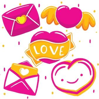 Happy valentive in vector style