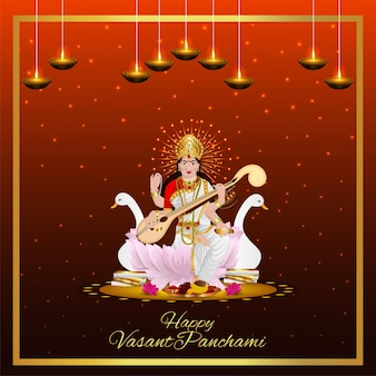 Happy vasant panchami creative elements and background
