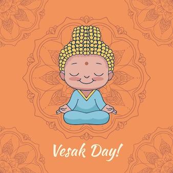 Happy vesak artisitc drawing