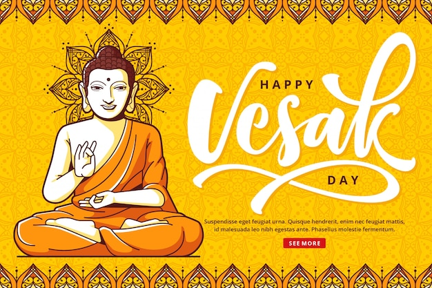 Happy vesak background