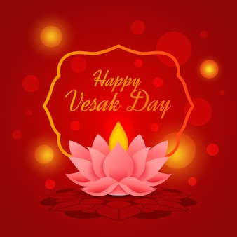 Happy vesak day flat design