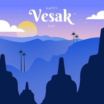 Happy vesak day greeting card design
