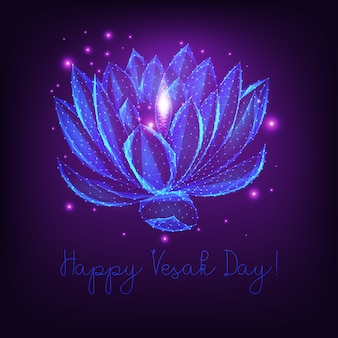 Happy vesak day greeting card template