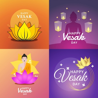 Happy vesak day illustration