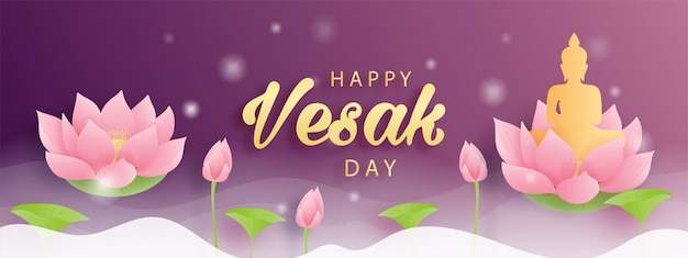 Happy vesak day.  illustration