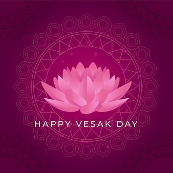 Happy vesak day with lotus flower