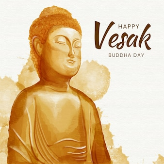 Happy vesak drawing theme