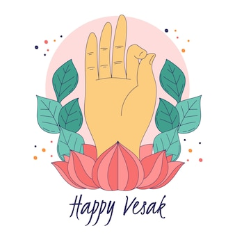 Happy vesak with hand