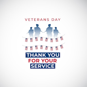 Счастливый день ветеранов баннер шаблон флаг сша