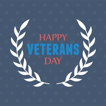 幸せな退役軍人の日、米軍の軍隊の兵士の紋章。