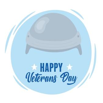 С днем ветеранов, карта шлема солдата вооруженных сил сша.