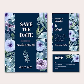 Happy wedding card floral